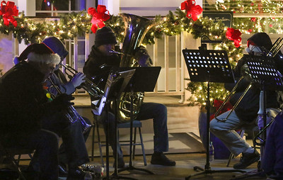 a band playing for passersby. The 36th annual Christmas Walk in Bay Head, NJ on 12/7/18. [DANIELLA HEMINGHAUS | THE OCEAN STAR]