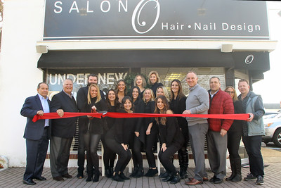 Ribbon cutting at  Salon O in Point Pleasant Beach on Tuesday December 12,2018. (MARK R. SULLIVAN /THE OCEAN STAR)
