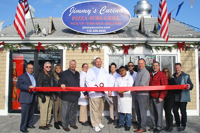 Ribbon cutting at  Jimmy's Cucina Pizza-Subs-Grill in Point Pleasant Beach on Tuesday December 12,2018. (MARK R. SULLIVAN /THE OCEAN STAR)