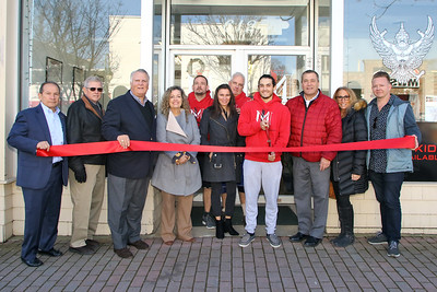 Ribbon cutting at Impact Martial Arts and Conditioning Muay Thai Kickboxing in Point Pleasant Beach on Tuesday December 12,2018. (MARK R. SULLIVAN /THE OCEAN STAR)