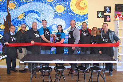 Ribbon cutting at Vincent Van Gogh's Art Studio in Point Pleasant Beach on Tuesday December 12,2018. (MARK R. SULLIVAN /THE OCEAN STAR)