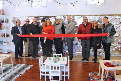 Ribbon cutting at Riverside Arts Studio and Supply in Point Pleasant Beach on Tuesday December 12,2018. (MARK R. SULLIVAN /THE OCEAN STAR)