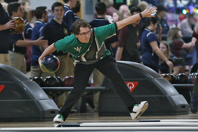 Brick High School boys bowler Chris Shymanski (MARK R. SULLIVAN/THE OCEAN STAR)