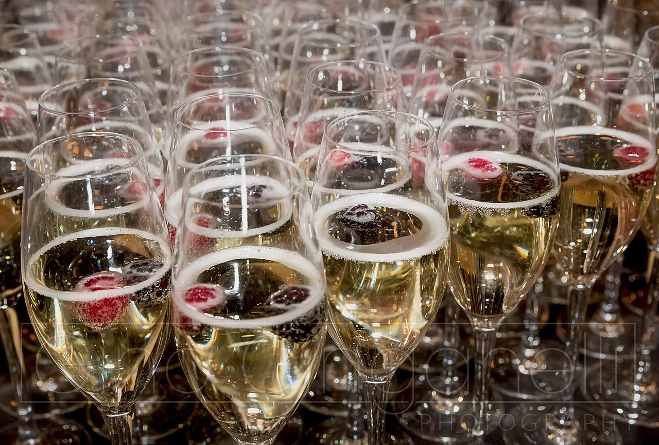 A table laid with Champagne