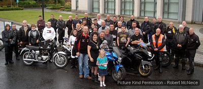 A big turn out of bikers at Antrim Civic Centre on Saturday morning to take part in the annual DUP East Antrim Asociation ride-out. Seeing the bikers of was leader-of-the-pack Sammy Wilson, Antrim Mayor Pam Lewis and road racer John Burrows. The bikers were travelling to Ballymoney stopping at the Dunlop memorials and Ballymoney Museum before tackling the coastal run round to Larne. AT38 - 811H