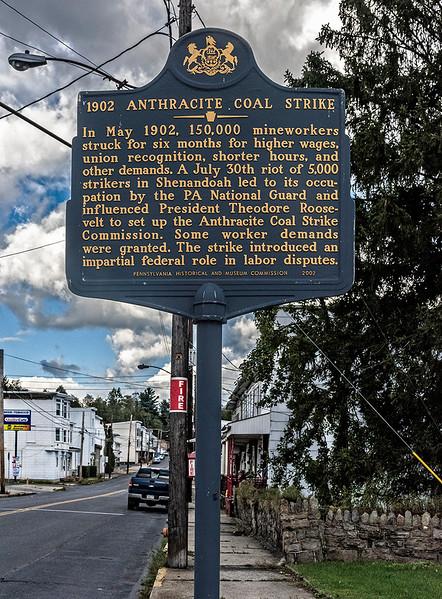 1902 Anthracite Coal Strike Sign