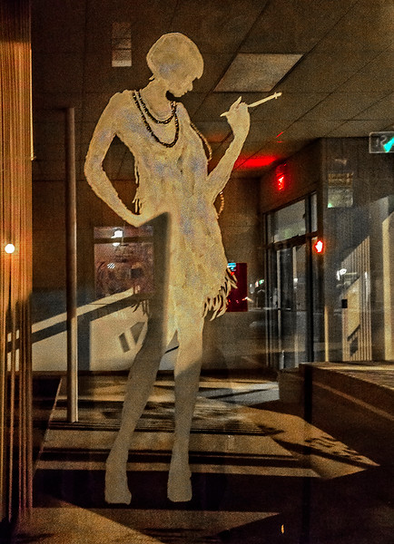 Flapper, Window, Night View