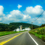 Farm, Road, Corn