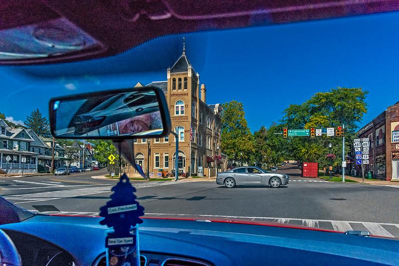 Facing Bloomsburg Town Hall