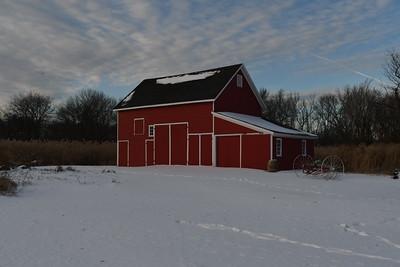 Old Red Barn At The Van Stuben House