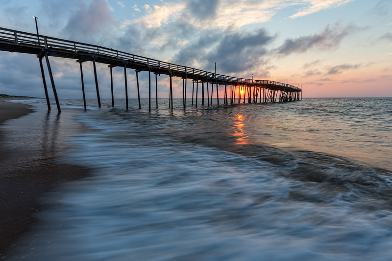 Waves Pier Sunrise