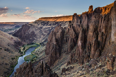Last Light near the Three Forks of the Owyhee River, Oregon.