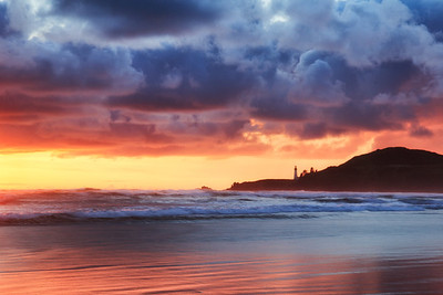Sunset after the storm ~ Newport, Oregon.