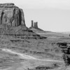 Monument Valley - Navajo and horse b&w  (April 2014)