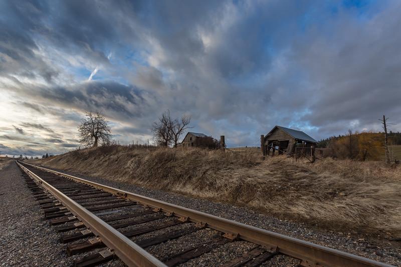 Railroad tracks on the Palouse
