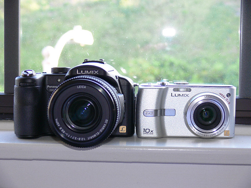 My Panasonic Lumix arsenal -- the FZ30 and the TZ1
