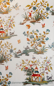 Vintage wallpaper - 18th century