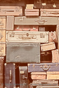 Old Suitcases - Grain added - Saint Malo, Brittany, France