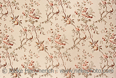 Vintage wallpaper - Floral pattern of 18th century - grain added