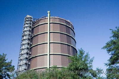 gasometer in oberhausen - 75 years old and the highest plate gas container in europe - adobe RGB