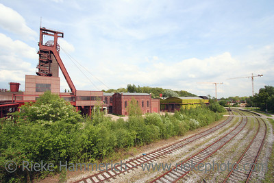 Coal-Mine with Railway Tracks - Zollverein - World Heritage Center and industrial culture site Built between 1928 and 1932, closed 1986