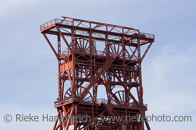 ancient shaft tower - coal mine consol, gelsenkirchen, built 1922, closed 1997 - adobe RGB