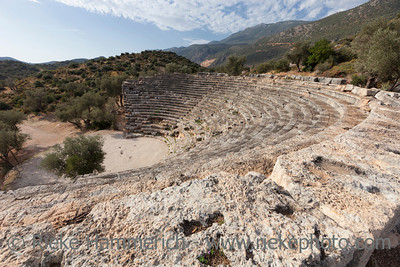 Amphitheater in Kas on Turkish Riviera - Kas, Antalya Province, Turkey, Asia