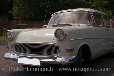 Vintage Opel Rekord - White German Car