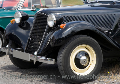 Vintage Citroen - French Car - Front with Wing, Headlights and Grille
