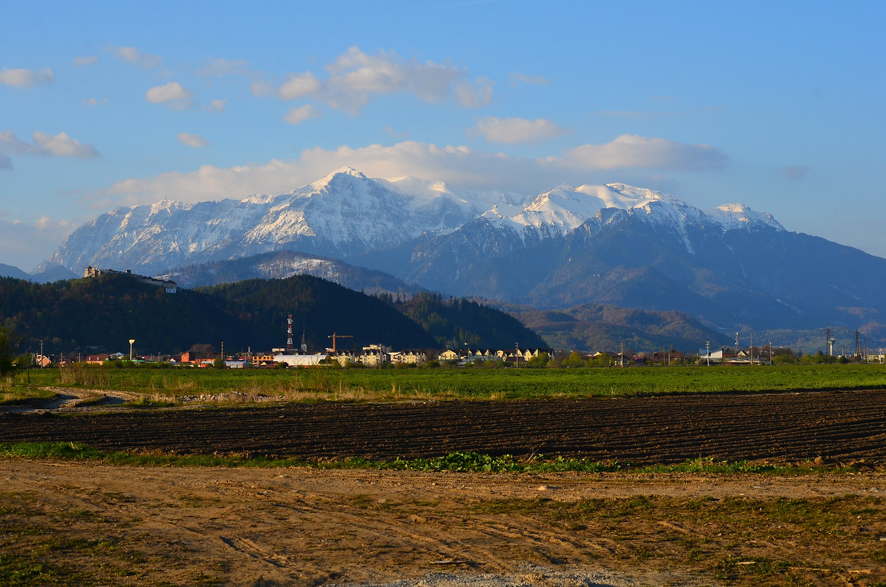 View from site to Bucegi Massif