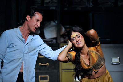 ENO The Pearl Fishers Jacques Imbrailo and Claudia Boyle (c) Robbie Jack