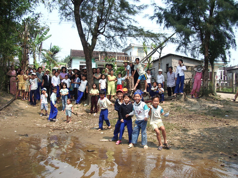 The whole village of My Loc on the north bank of the Cua Viet River came out to say goodby to us when we left.
