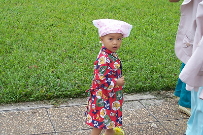 A little guy in Ha Noi on his way to visit Ho Chi Minh's Mausoleum.