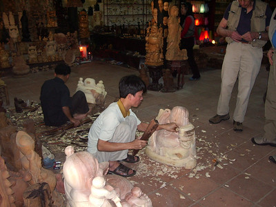 Wood carver in Hoi An.