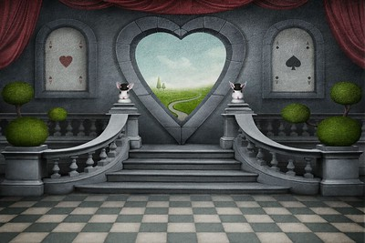 Fantastic background and door of heart.
