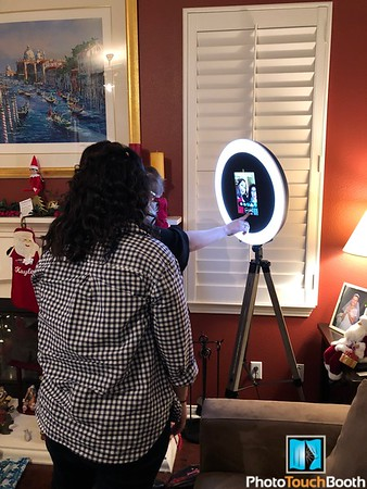 Ring Light Selfie Station at a Christmas Party