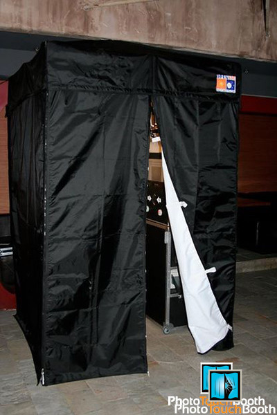 Our Enclosed Photo Booth can easily fit 6 adults or 10 kids or more if you dare!