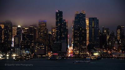 42nd Street at night, NYC