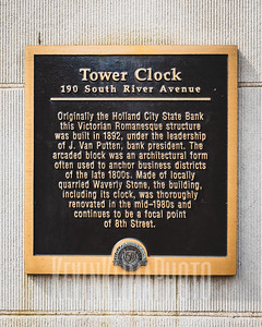 Tower Clock Plaque