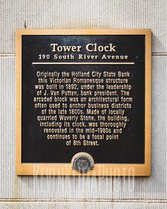 Tower Clock Plaque