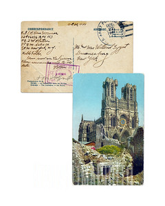 RHEIMS - The Cathedral in the Ruins - 1944