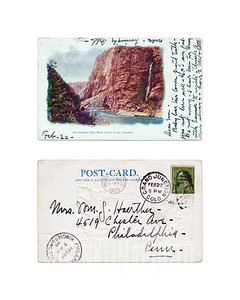 Chipeta Falls, Black Canon of the Gunnison - 1905