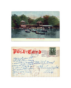 BOAT HOUSE, Central Park, New York - 1907