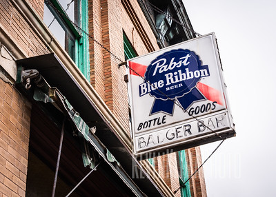 Pabst Blue Ribbon Beer - Badger Bar