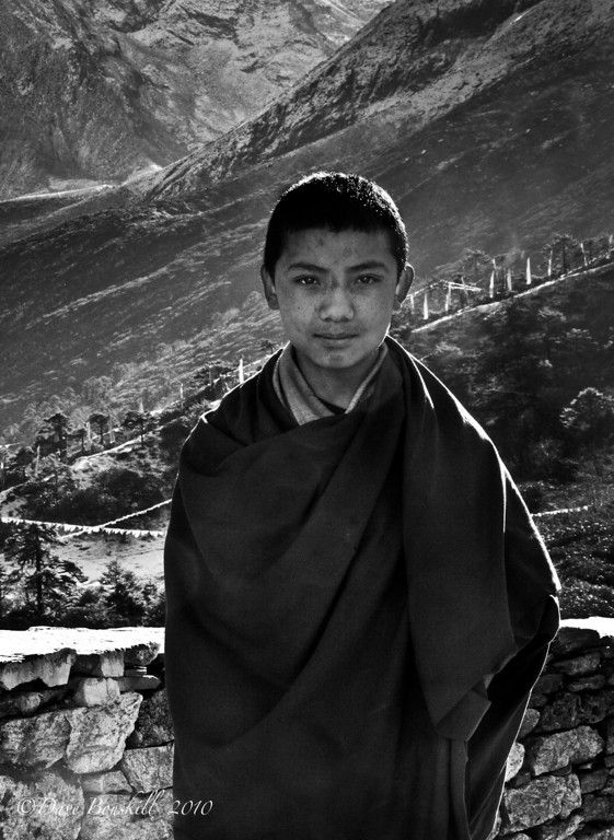 Black-White-Nepal-Monk