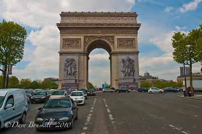 France-Paris attractions-Arc de Triomphe