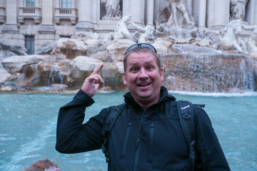 F-Stop gear at Trevi fountain, Italy