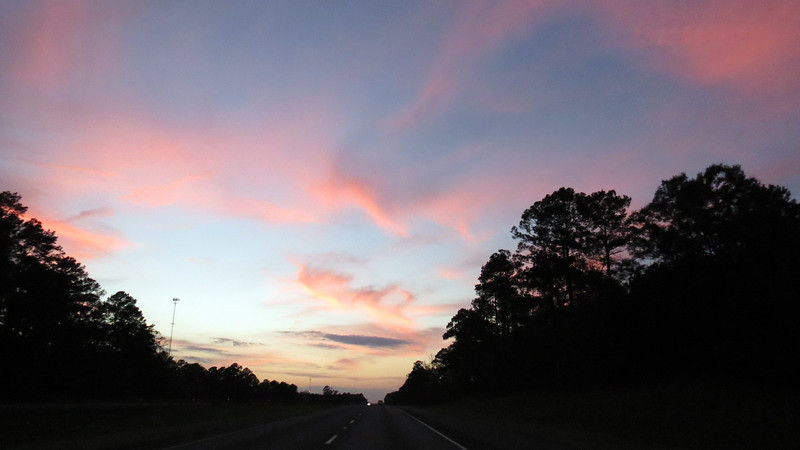 Another cool sky, I-20 mile 56 near, Ada, LA courtesy of the perfect weather and beautiful sunset.