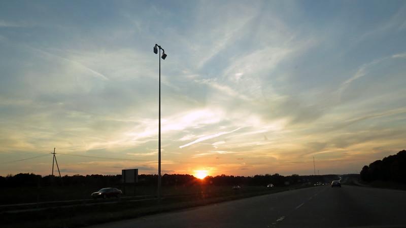 A beautiful sunset along I-20 near mile 84, Ruston, LA.