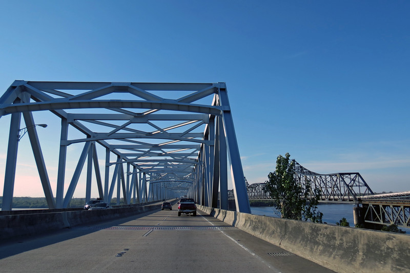 Crossing the Mississippi River into Louisiana.